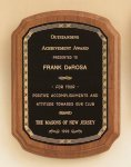American Walnut Plaque with Braided Border Sales Awards