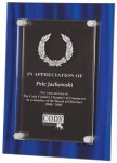 Blue Velvet Acrylic Plaque Award Sales Awards