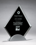 Diamond Series Glass Award with Silver Metal Base Sales Awards