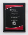 Black Piano Finish Plaque with Red Acrylic Plate Sales Awards