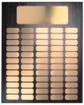 Walnut Finish Perpetual Plaque with Gold Brass Plates Sales Awards