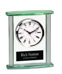 Rectangle Glass Desk Clock  Sales Awards