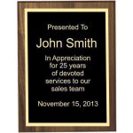 Bevel Solid Walnut Plaque Sales Awards