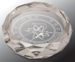 Faceted Round Crystal Paper Weight Secretary Gift Awards