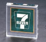 Emerald Marble Square Acrylic Paper Weight Secretary Gift Awards