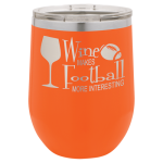 Polar Camel 12 oz. Stemless Wine Glass -Orange  Stemless Wine Glasses
