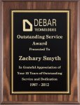 Walnut Finish Plaque with Engraving Plate Walnut Plaques