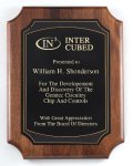 American Genuine Walnut Plaque with Satin Finish Walnut Plaques