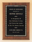 Walnut Plaque with Brass Engraving Plate Walnut Plaques