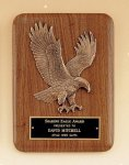 American Walnut Plaque with Eagle Casting Walnut Plaques