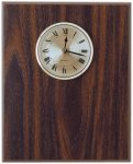 Classic Walnut Finish Clock Plaque Walnut Plaques