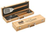 Bamboo 3 Piece BBQ Set Wedding Gifts